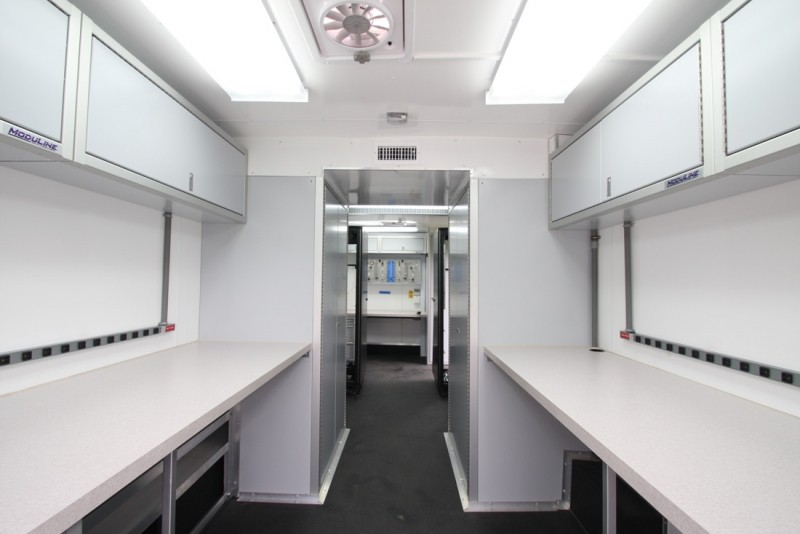 Lightweight Moduline Aluminum Cabinets In Specialty Vehicle