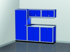 8' Wide ProII™ SERIES Garage And Shop Aluminum Cabinet Combination #PGC008-02X