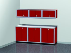 8' Wide ProII™ SERIES Garage And Shop Aluminum Cabinet Combination #PGC008-03X
