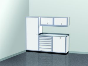 8' Wide ProII™ SERIES Garage And Shop Aluminum Cabinet Combination #PGC008-04X