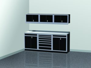 8' Wide ProII™ SERIES Garage And Shop Aluminum Cabinet Combination #PGC008-05X