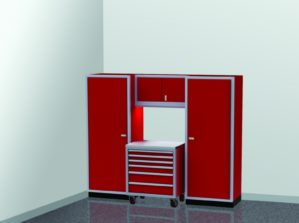 8' Wide ProII™ SERIES Garage And Shop Aluminum Cabinet Combination #PGC008-07X