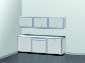 9' Wide ProII™ SERIES Garage And Shop Aluminum Cabinet Combination #PGC009-01X