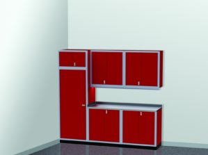 "8'-8"" Wide ProII™ SERIES Garage And Shop Aluminum Cabinet Combination #PGC009-04X"