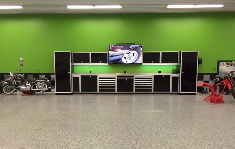 Moduline Black Aluminum Modular Garage & Shop Cabinets