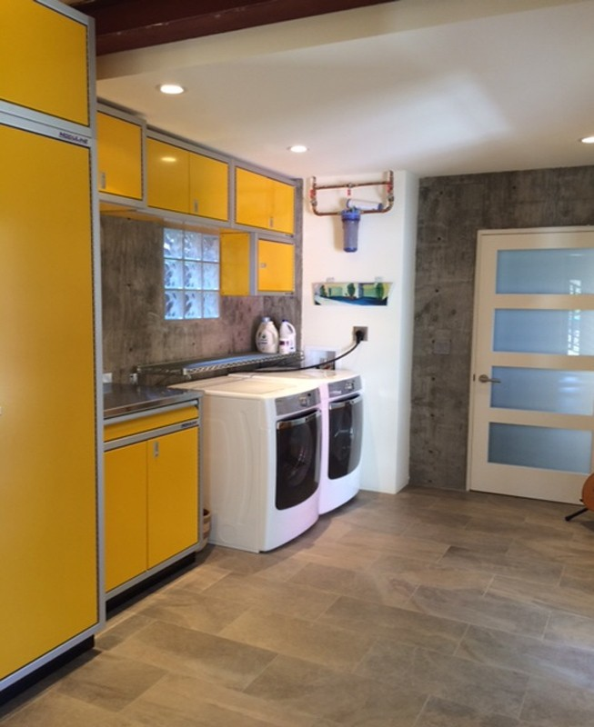 Yellow Moduline Aluminum Cabinets Storage Systems