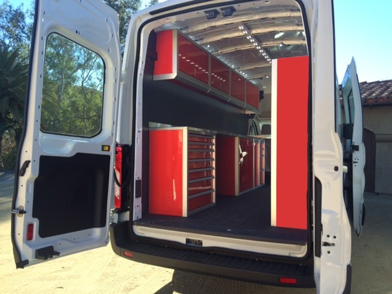 Van With Moduline PROII™ SERIES Aluminum Cabinets