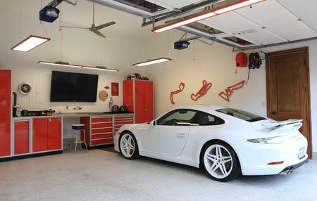 Red Moduline Garage Cabinets