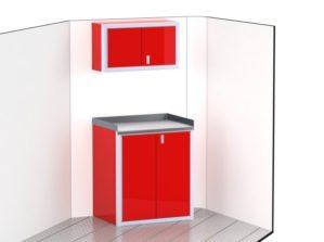 V-Nose Trailer Aluminum Cabinets