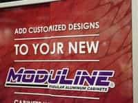 Moduline Metal Garage Cabinets Racing Trade Show