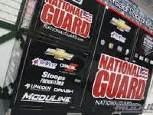 Modular Garage Cabinets & National Guard Racing