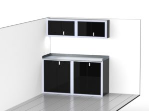 Lightweight Trailer Aluminum Cabinet Combination
