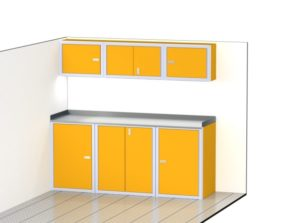 Enclosed Trailer Aluminum Cabinets For Storage