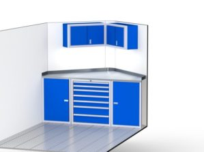 V-Nose Trailer Aluminum Cabinets For Storage
