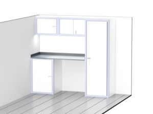 Lightweight Aluminum Cabinets For Enclosed Trailer Storage