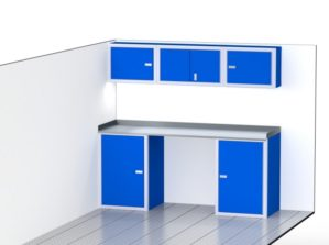 Blue Aluminum High End Cabinets For Trailers & Vehicles