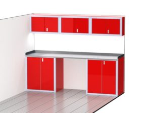 Aluminum Red Cabinets For Storage In Trailers