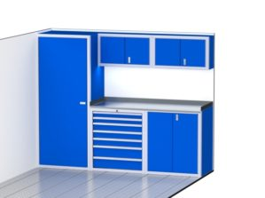 Wide Trailer And Vehicle Storage Combination Cabinets