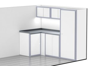 Lightweight Aluminum Cabinets For Enclosed Trailers