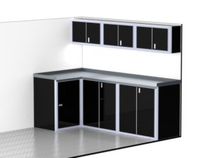 "96"" Wide Trailer & Vehicle Aluminum Modular Cabinets"