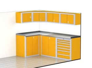 "96"" Wide Trailer Aluminum Cabinets For Storage"
