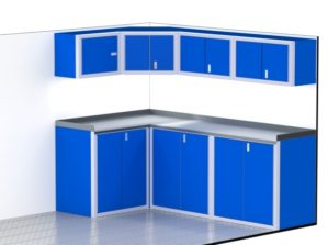 "96"" Wide Enclosed Trailer Aluminum Cabinets"