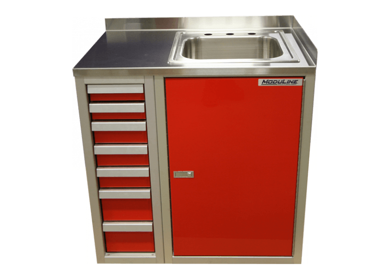 Custom Metal Aluminum Cabinets With Sink And Drawers