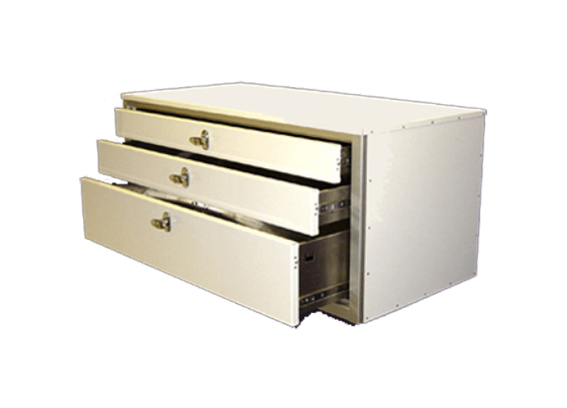 Aluminum GSA Approved Military 3-Drawer Cabinet