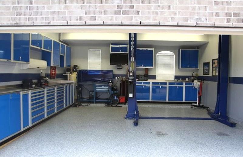 Blue Moduline Proii Series Garage Storage Cabinets