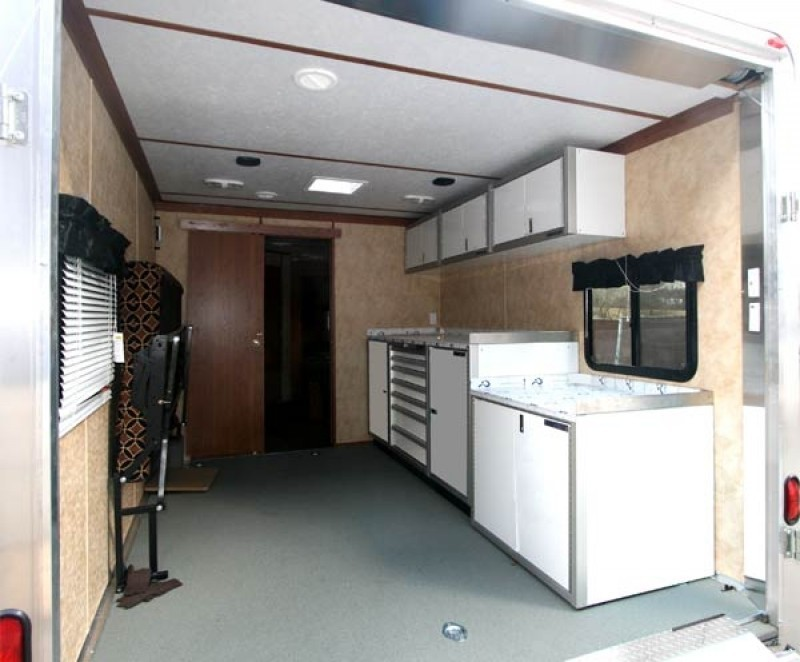 Competition BBQ Team Trailer With Moduline Lightweight PROII™ Aluminum Cabinets
