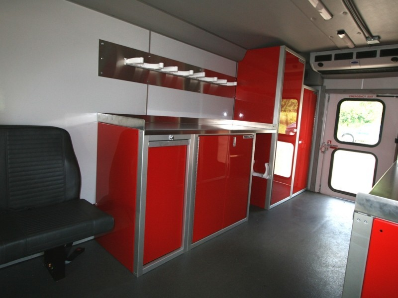 Fire Rescue Vehicle With Aluminum Cabinets And Countertop By Moduline 2