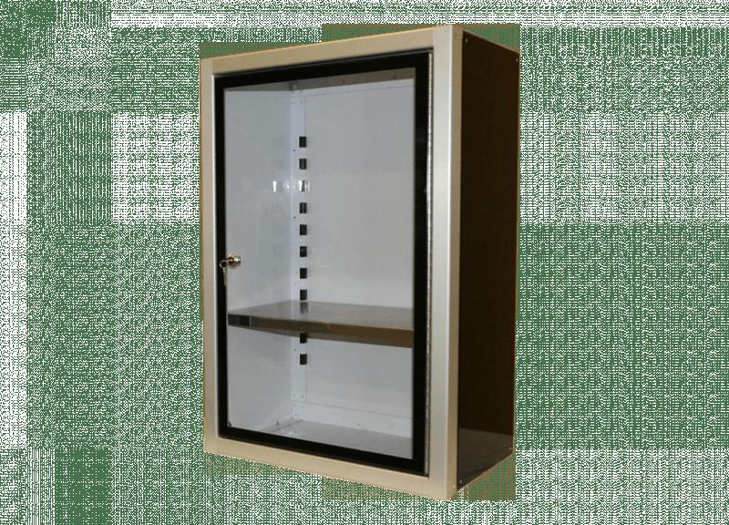 Custom Aluminum Display Cabinet With Glass Door