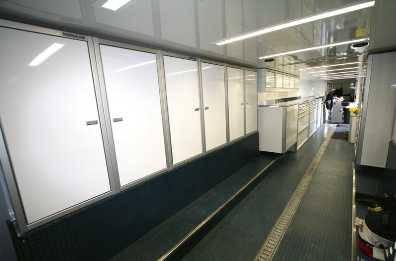 Lightweight Moduline ProII™ Aluminum Car Trailer Cabinets