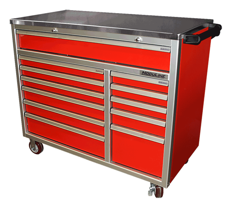 Mobile Aluminum Toolbox With Drawers