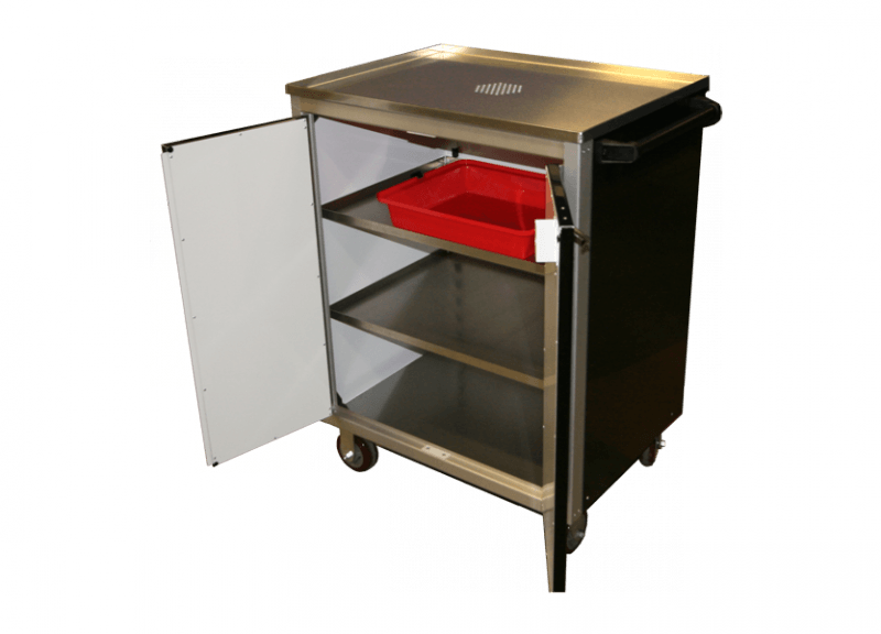 Aluminum Mobile Cabinet With Top Drain