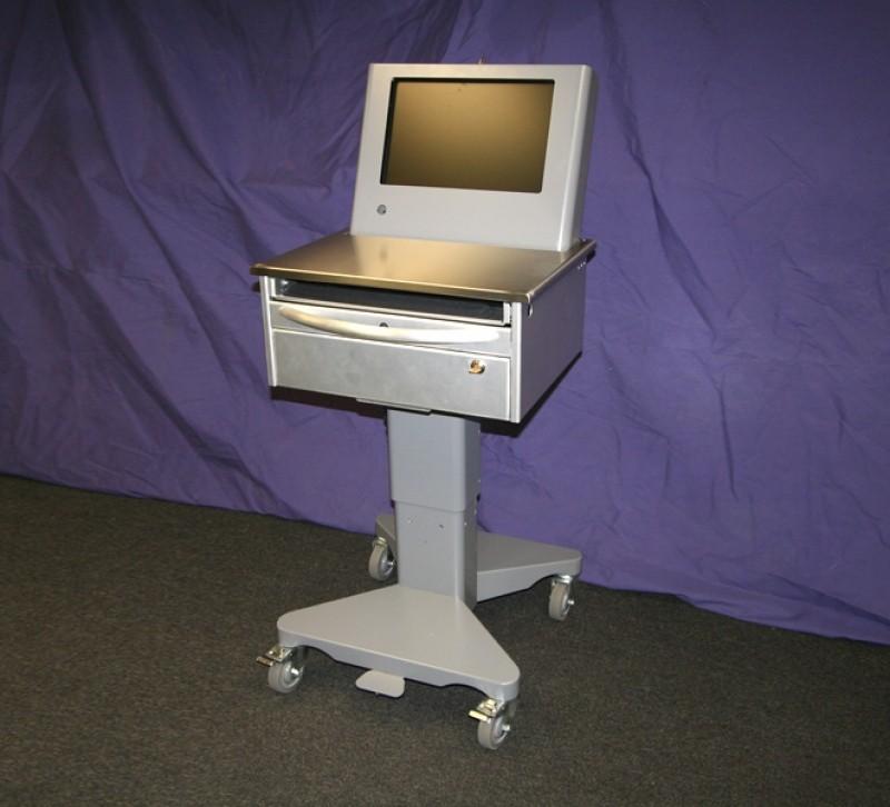 Mobile Computer Workstation For Shop Or Garage