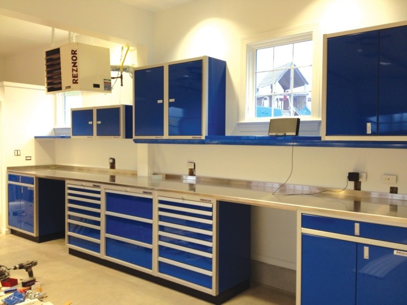 Moduline Aluminum Countertop, Tool Chests, Wall Cabinets, And Base Cabinets
