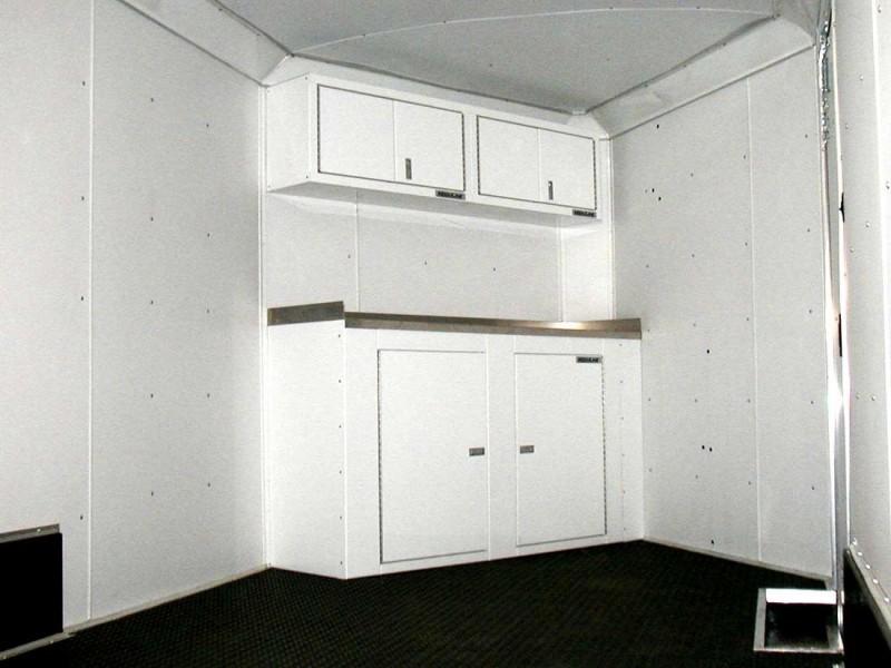 Moduline PROII™ Aluminum Cabinets In A V Nose Trailer 3