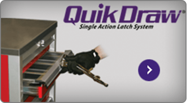 QuikDraw® Aluminum Drawer Latch For Tool Cabinets