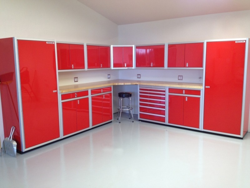 Cabinets For Garage gallery of garage & shop aluminum cabinets | moduline - part 6