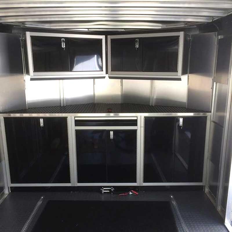 Attirant Moduline Signature Black ProII™ Aluminum V Nose Trailer Cabinets