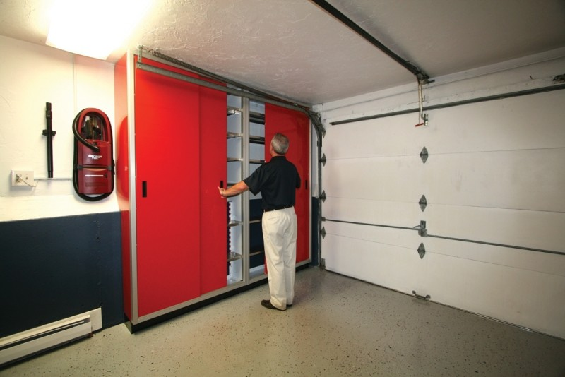 moduline space saver sliding door garage storage cabinets
