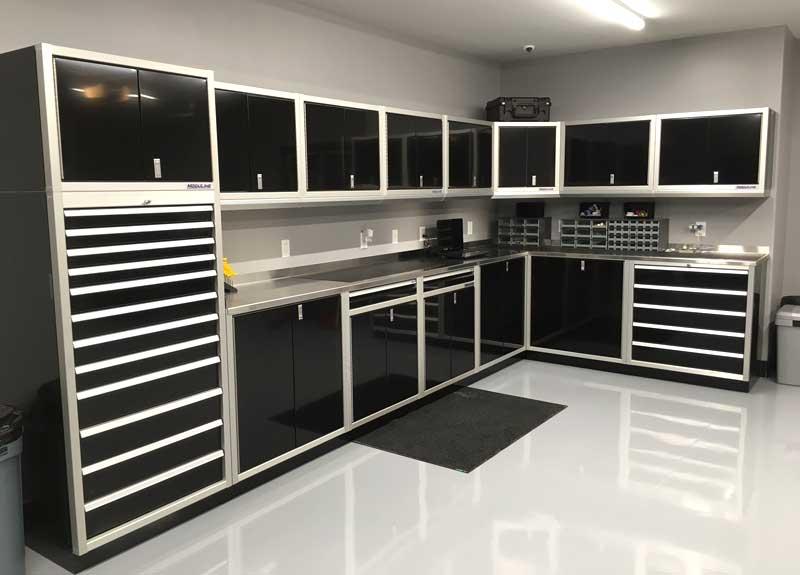 Genial Moduline Signature Black Garage Cabinets
