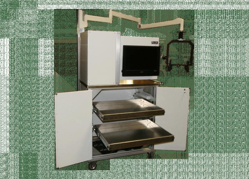 Aluminum Operating Room Cart With Camera Recording Equipment
