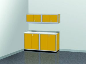 6' Wide ProII™ SERIES Garage And Shop Aluminum Cabinet Combination #PGC006-01X