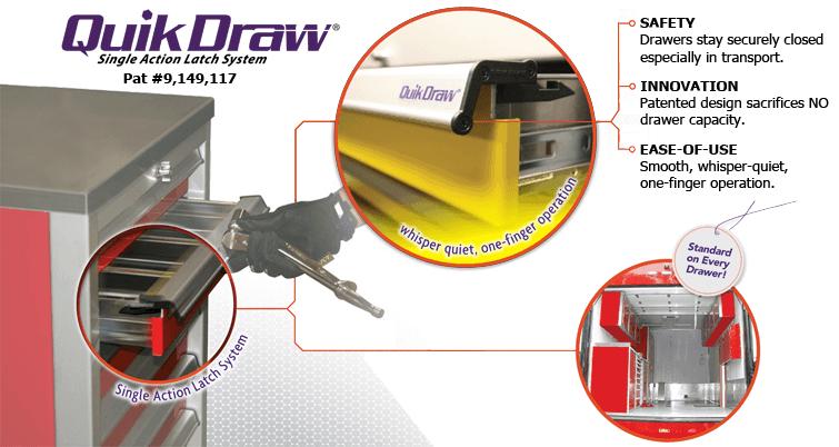 Quik Draw® Garage Cabinet Storage Drawers