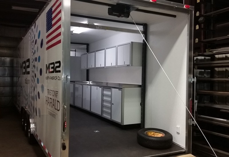 Racing Yacht Trailer With Moduline Aluminum Cabinets