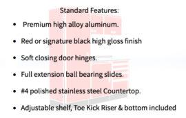 Modular Aluminum Cabinets Design Organization Features