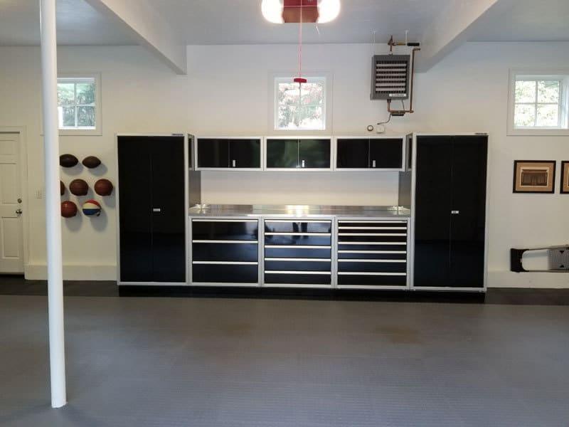 Moduline ProII™ Signature Black Aluminum Garage Cabinets