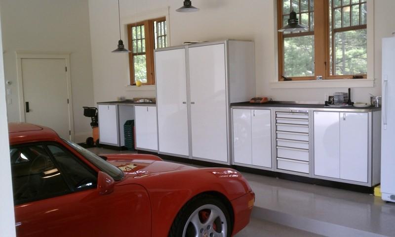 Gentil White Moduline Aluminum Garage Storage Cabinets